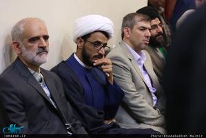 دیدار خادمین حرم مطهر امام خمینی(س) با سید حسن خمینی