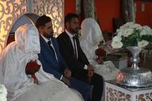 جشن ازدواج 2 زوج در اردوگاه اسکان سیل زدگان دراهواز برگزارشد