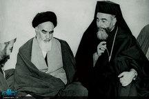 دیدار اسقف کاپوچی و حضرت امام خمینی