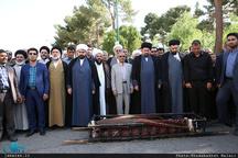 مراسم تشییع و خاکسپاری پدر حجت الاسلام و المسلمین آشتیانی