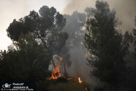 آتشسوزی در دو منطقه بهبهان و اعزام بالگرد برای اطفای حریق