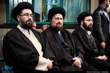 مراسم چهلمین روز درگذشت آیت الله العظمی موسوی اردبیلی(ره) در حسینیه جماران-1