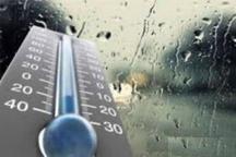 بارش باران همراه باد شدید و کاهش محسوس دما در تهران