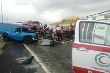 کشته و زخمی شدن 7نفر در حادثه دلخراش تصادف در محور سلماس-خوی