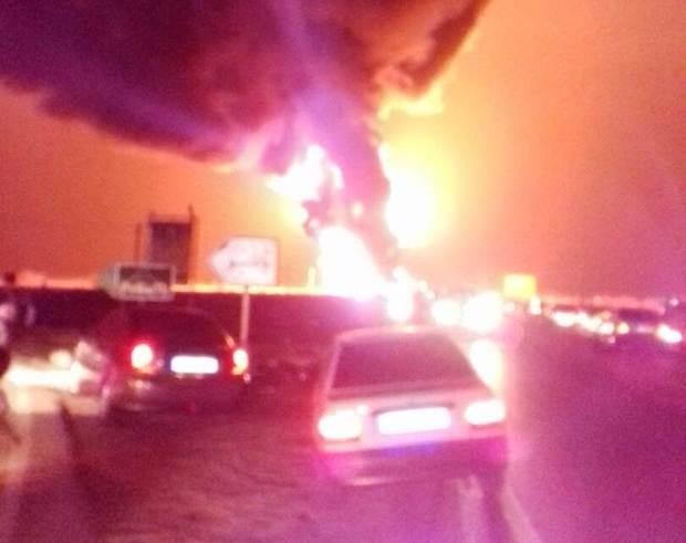 واژگونی تانکر سوخت در جاده بندرعباس میناب دوکشته بر جای گذاشت