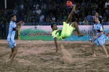 تیم فوتبال ساحلی گلساپوش یزد،  چهارمحال را شکست داد
