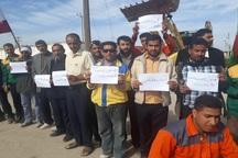 کارگران شهرداری چوئبده خواستار حقوق معوقه خود شدند