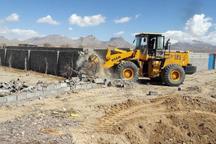 چهار هکتار از اراضی دولتی در قم رفع تصرف شد