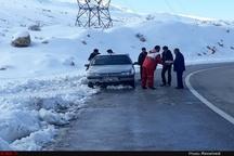 امدادرسانی به ۸۹ نفر گرفتار در کولاک و برفِ تاراز خوزستان  ۹۰ نفر گرفتار در سیل گتوند