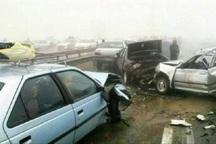 تصادف 4 خودرو درمحور آشخانه- جنگل گلستان 10مصدوم داشت