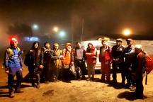 امدادگران هلال احمرسوادکوه هشت کوهنورد گمشده را نجات دادند