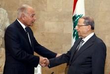 انتقاد شدید رئیس جمهور لبنان از قطعنامه اتحادیه عرب در حضور دبیر کل این اتحادیه