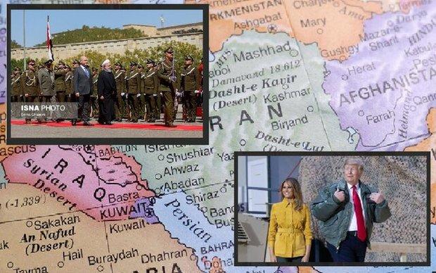 مقایسه سفر روحانی و ترامپ به عراق+ عکس