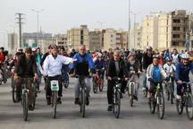 همایش دوچرخه سواری در قزوین برگزار شد