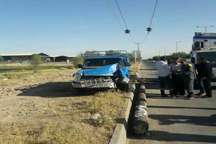 خودروی وانت برق پنج روستای دزفول را قطع کرد