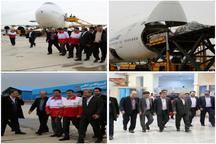 بوئینگ ۷۴۷ حامل کمکهای مردمی البرز به خوزستان پرواز میکند