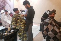 آرایشگران ساوجبلاغی مسابقه دادند