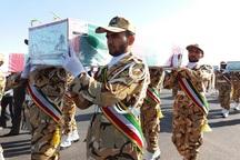 پیکر چهار شهید گمنام دفاع مقدس در بیرجند تشییع شد