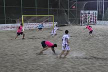 ملوان بندرگز در لیگ برتر فوتبال ساحلی پیروز شد