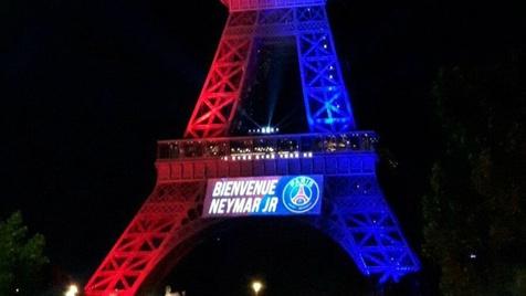 تبریک برج ایفل به نیمار! + عکس