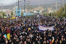 راهپیمایی دشمن هراس یوم الله ۱۳ آبان پاسخ قاطع به یاوهگویی های دشمنان بود