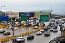 ترافیک در جاده های مشهد نیمه سنگین است