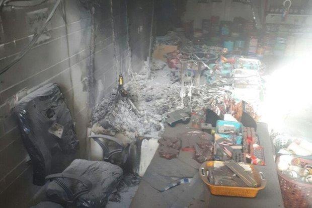 آتش سوزی یک مغازه پلاستیک فروشی در قزوین مهار شد