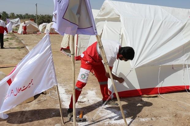 123 تخته چادر برای سیل زدگان شهرستان سلسله ارسال شد