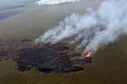 دود آتش سوزی هورالعظیم نوار غربی خوزستان را فرا می گیرد