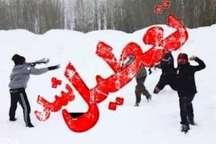 تعطیلی مدارس نوبت عصر خنداب به علت بارش برف و لغزندگی معابر