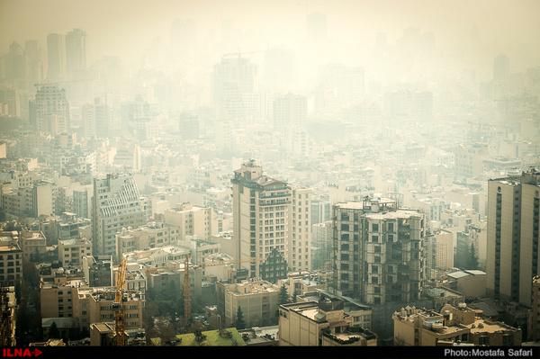 هوای تهران در شرایط ناسالم برای گروههای حساس  شهر ری آلودهترین منطقه پایتخت