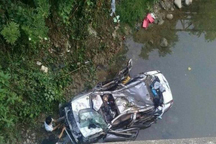 سقوط خودرو به رودخانه، سه فوتی و یک مصدوم بر جا گذاشت