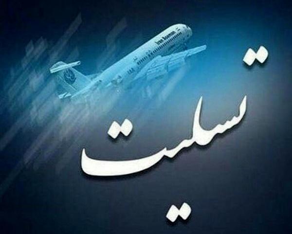 پیام تسلیت استاندار البرز در پی سقوط هواپیمای بوئینگ