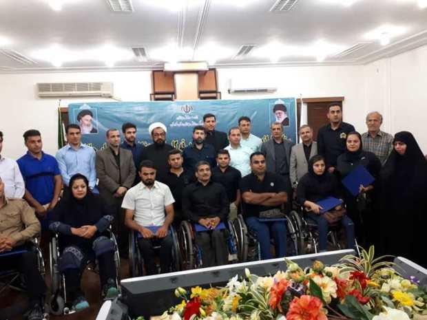 ورزشکاران خوزستانی اعزامی به مسابقات پاراآسیایی بدرقه شدند