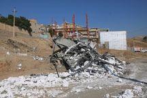 واحد تجاری و مسکونی غیرمجاز در سنندج تخریب شد