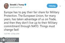 حمله لفظی چندباره ترامپ به اروپا پس از طرح ایده «ارتش اروپایی»