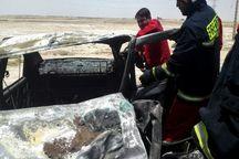 تصادف در خرمشهر یک کشته برجای گذاشت