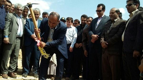 مرکز بستر درمانی شهری و روستایی دیشموک کلنگ زنی شد