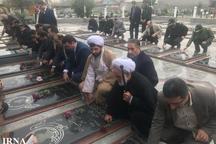 گلزار شهدای شهرستان فومن گلباران شد