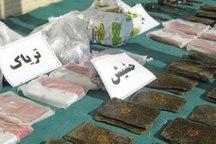 کشف بیش از 56 کیلوگرم مواد مخدر در باک و تاج کامیون در خرم بید