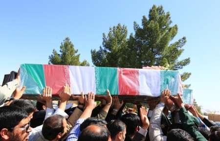 پیکر شهید مدافع حرم در رفسنجان تشییع شد