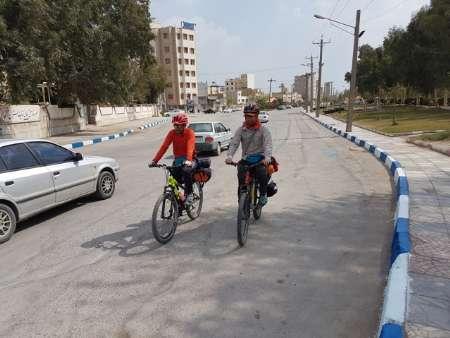 رکابزنی دو فعال محیط زیست در اعتراض به وضعیت محیط زیست خوزستان
