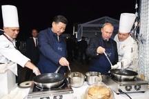 پوتین و رئیس جمهور چین آشپز شدند + عکس