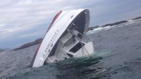 حادثه برای قایق تماشای نهنگ+ عکس