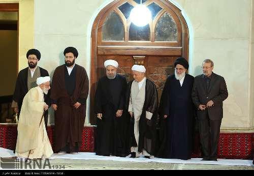 آیت الله هاشمی رفسنجانی در مراسم سالگرد بزرگداشت امام(س)+ عکس