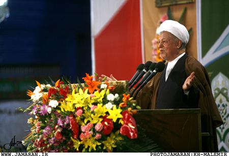 سخرانی هاشمی رفسنجانی در حرم امام