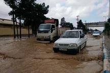 بارش باران منجر به جاری شدن سیل در شمال استان اصفهان شد