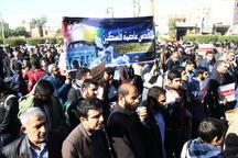 تجمع اعتراض آمیز طلاب اهواز در محکومیت ترامپ در شناسایی قدس به عنوان پایتخت رژیم صهیونیستی