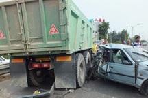سانحه رانندگی در محور میانه - ترک سه کشته بر جاگذاشت