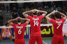 شکست شهرداری تبریز در نخستین بازی خود در فصل جدید لیگ برتر والیبال